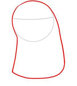 Как рисовать пингвина для детей - шаг 2