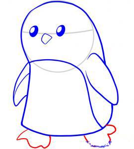 Как рисовать пингвина для детей - шаг 5