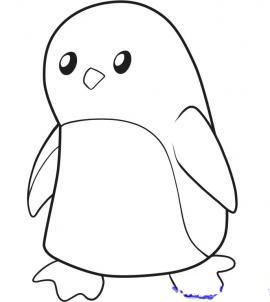 Как рисовать Пингвина для детей поэтапно