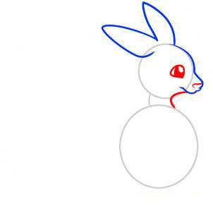 Рисуем кенгуру для детей - шаг 3