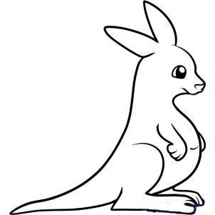 Рисуем кенгуру для детей - шаг 7