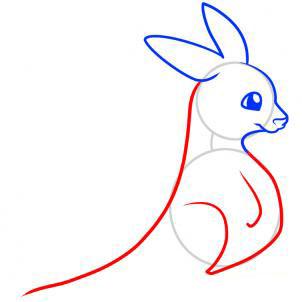 Рисуем кенгуру для детей - шаг 4