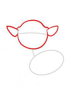 Рисуем оленя  для детей - шаг 2