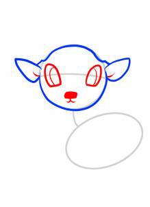 Рисуем оленя  для детей - шаг 3