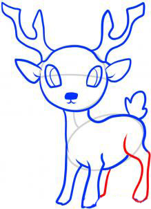 Рисуем оленя  для детей - шаг 7