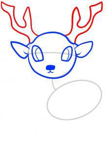 Рисуем оленя  для детей - шаг 4