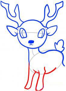 Рисуем оленя  для детей - шаг 6