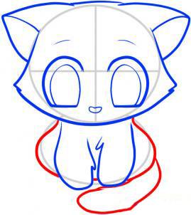Рисуем кошку для детей - шаг 7