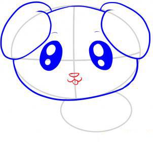 Учимя рисовать щенка - шаг 5