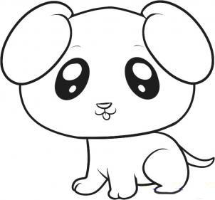 Учимя рисовать щенка карандашом