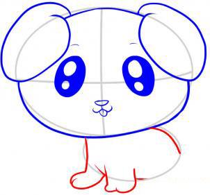 Учимя рисовать щенка - шаг 6