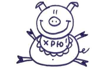 Рисуем свинку с ложной и вилкой ребенку - фото 12