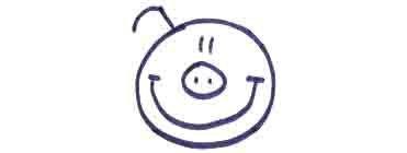 Рисуем свинку с ложной и вилкой ребенку - фото 4