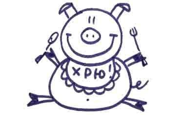 Рисуем свинку с ложной и вилкой ребенку - фото 13