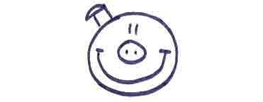 Рисуем свинку с ложной и вилкой ребенку - фото 6