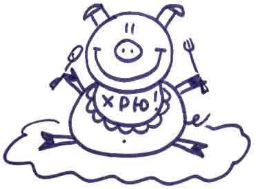 Рисуем свинку с ложной и вилкой ребенку - фото 14