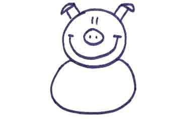 Рисуем свинку с ложной и вилкой ребенку - фото 8