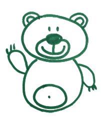 Как легко и просто нарисовать мишку ребенку - шаг 9