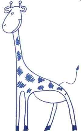 Как легко нарисовать жирафа  ребенку - шаг 15