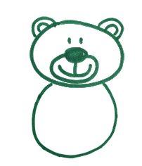 Как легко и просто нарисовать мишку ребенку - шаг 5
