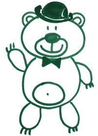 Как легко и просто нарисовать мишку ребенку - шаг 11