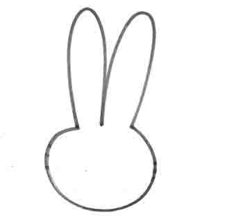 Рисуем зайчика за 10 секунд - шаг 2