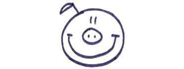 Рисуем свинку с ложной и вилкой ребенку - фото 5
