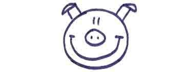 Рисуем свинку с ложной и вилкой ребенку - фото 7