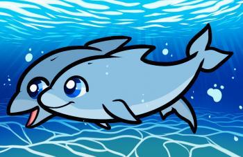 Дельфина нарисовать ребенку