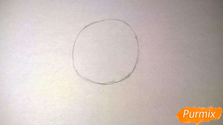 Рисуем единорожку для детей - шаг 1