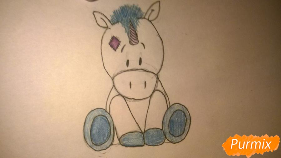 Рисуем единорожку для детей - фото 9
