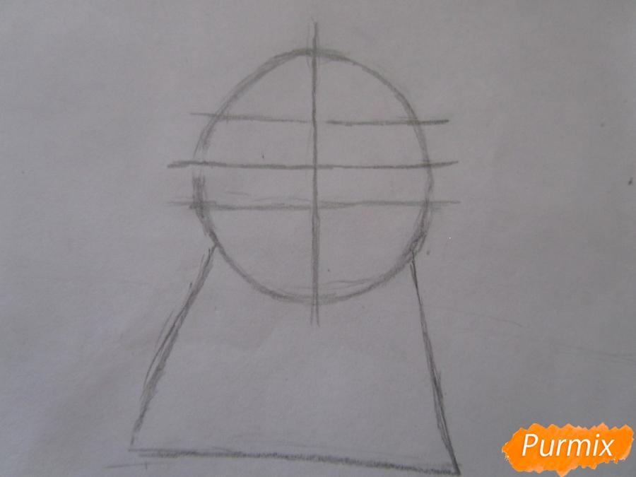 Рисуем маленького единорожка ребенку карандашами - шаг 2
