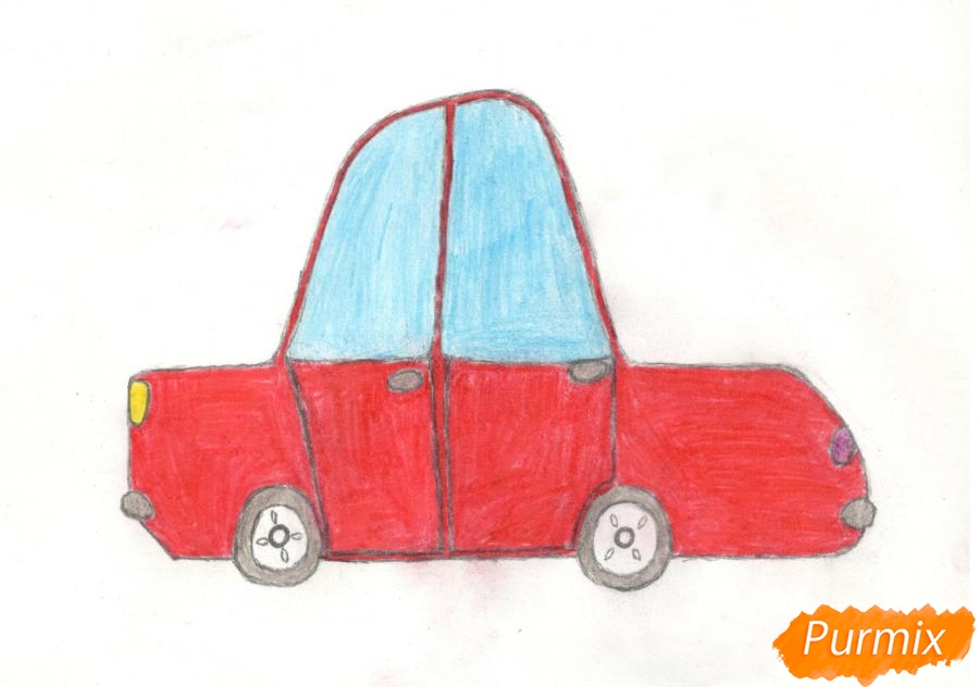Рисуем машинку ребенку - фото 11