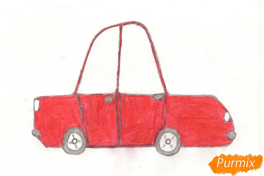 Рисуем машинку ребенку - фото 9