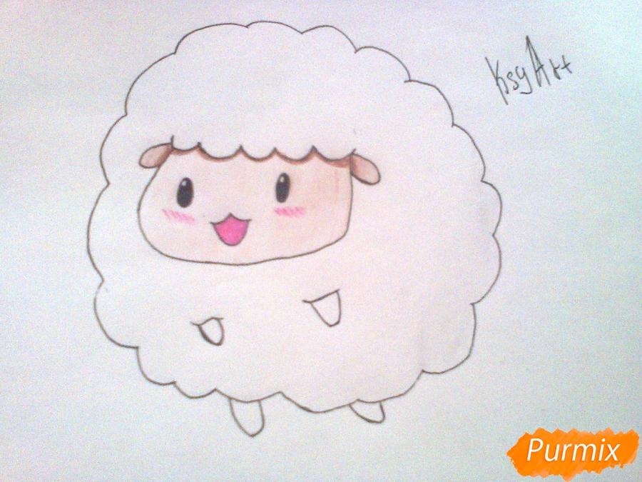 Как нарисовать милого барашка ребенку карандашами поэтапно