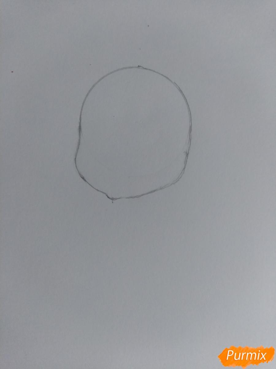 Рисуем зайку с морковкой ребенку - шаг 2