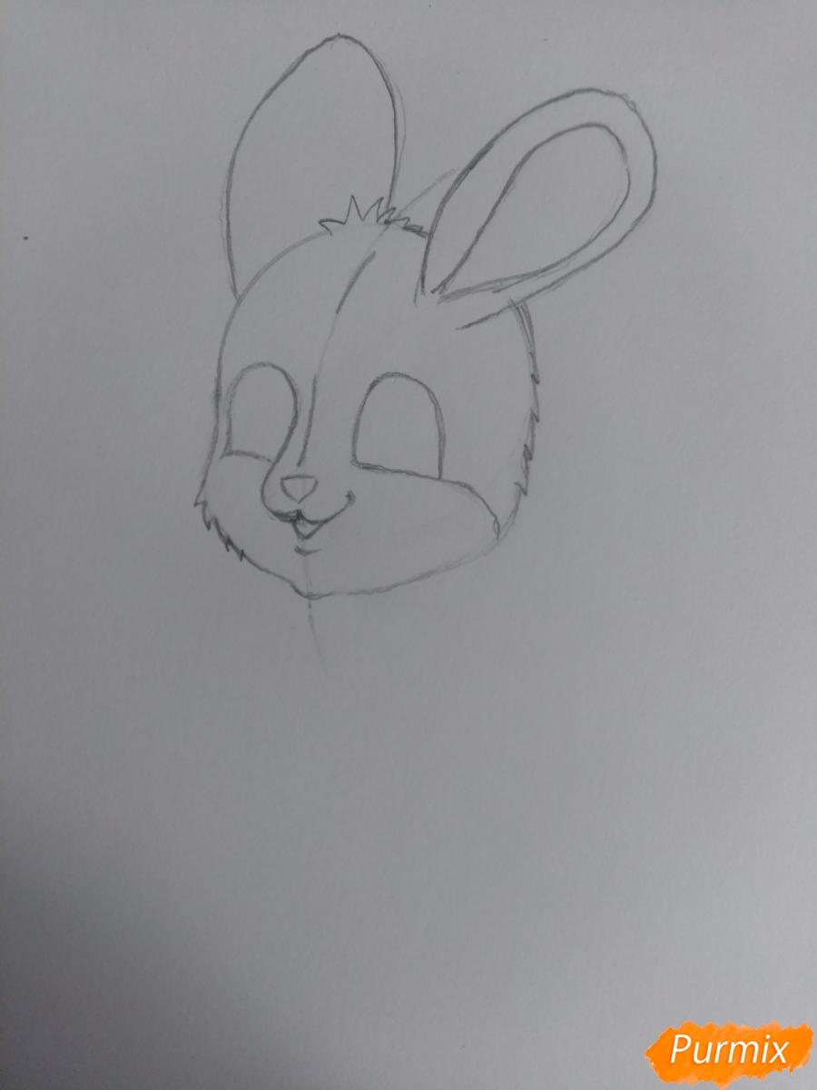Рисуем зайку с морковкой ребенку - шаг 7