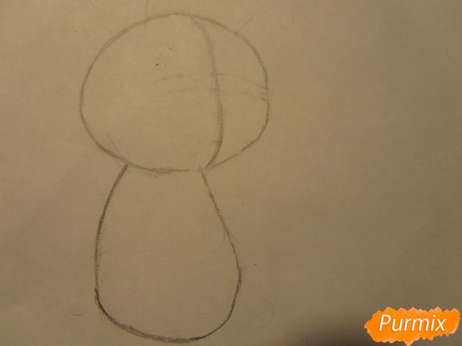 Рисуем зайку для детей шаг за шагом - шаг 1