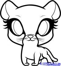 Как легко нарисовать гепардика ребенку  карандашом