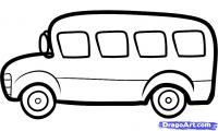 автобус ребенку карандашом