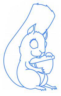 белку ребенку карандашом