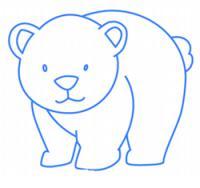 белого медведя ребенку карандашом