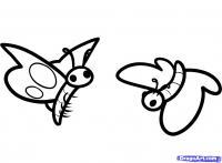 бабочку ребенку карандашом