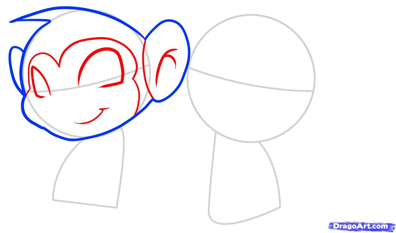 Рисуем двух маленьких обезьянок ребенку - шаг 3