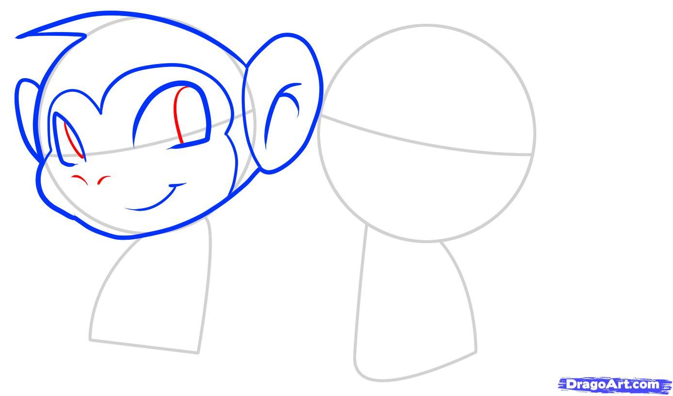 Рисуем двух маленьких обезьянок ребенку - шаг 4