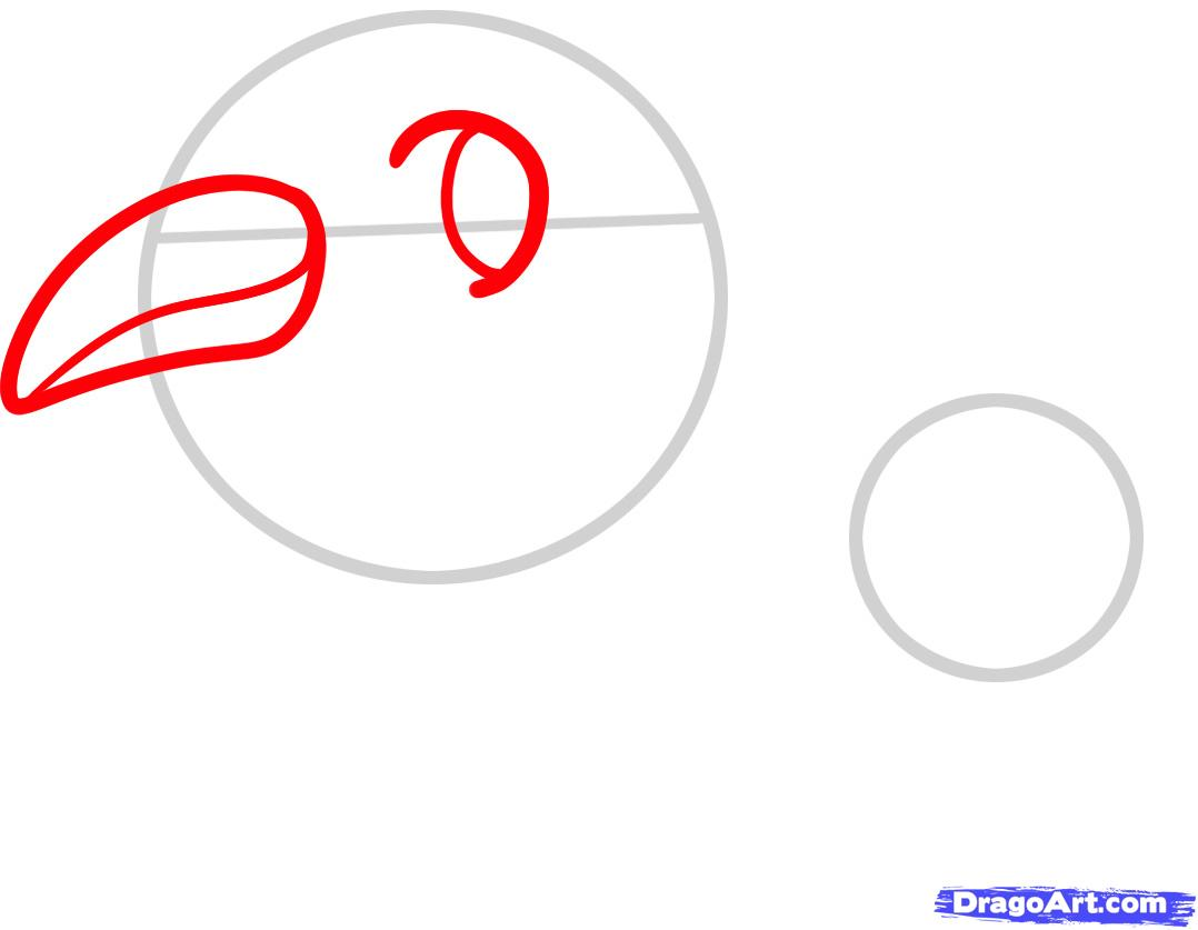 Рисуем двух маленьких пингвинов - шаг 2