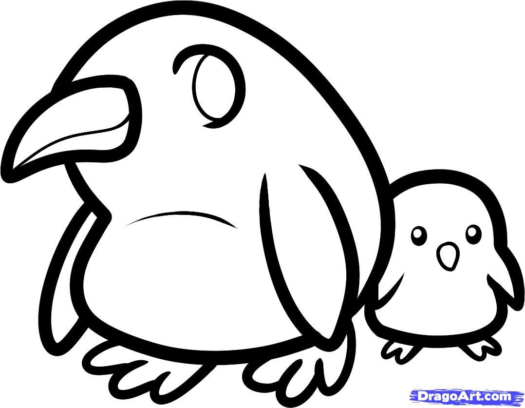 Рисуем двух маленьких пингвинов - шаг 7