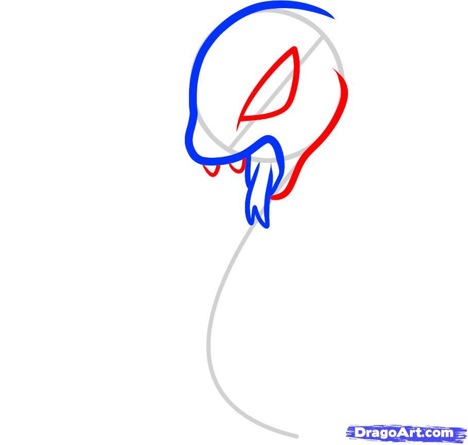 Как нарисовать Кобру ребенку карандашом поэтапно