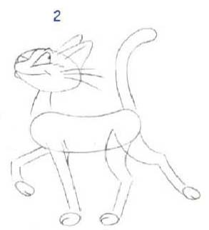 Как просто нарисовать кота - шаг 2