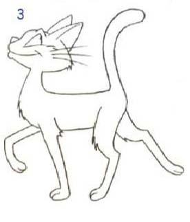 Как просто нарисовать кота - шаг 3